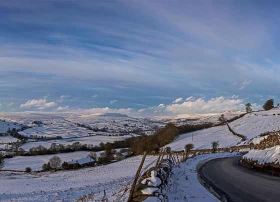 The road to Swaledale just above Fremington.