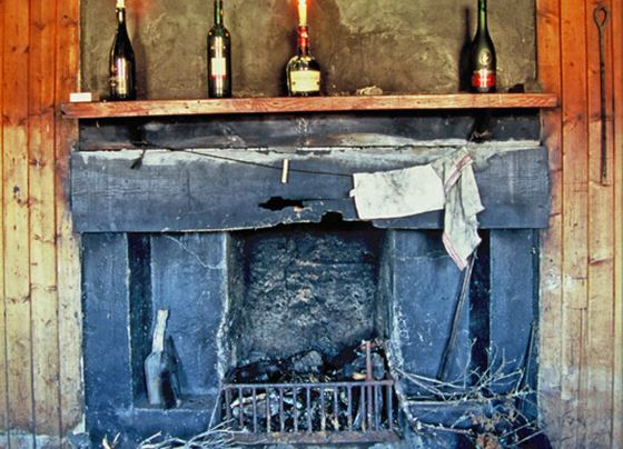 Bothy fireplace-Monadliath Mountains